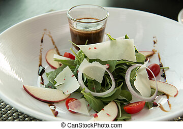 cheese and vegetable Salad on plate