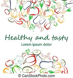Healthy Eating concept banner white