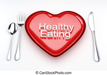 Healthy eating concept. - Healthy eating concept, heart...