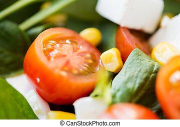 close up of vegetable salad bowl