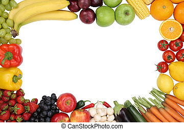 Healthy eating fruits and vegetables with copyspace