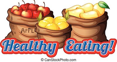 Healthy Eating - Healthy eating theme with fruits