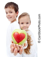 Healthy eating in childhood concept