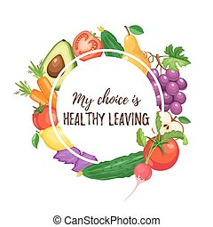 healthy eating poster - My choice is healthy leaving....