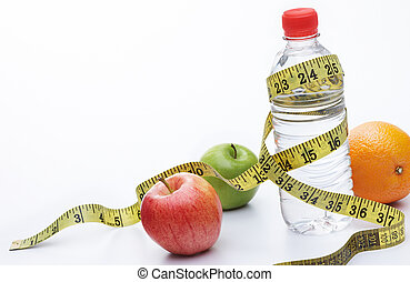 healthy eating requires lots of fruits and water