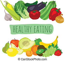Healthy Eating - various fruits and vegetables