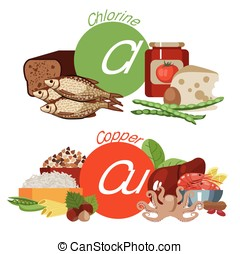 """Healthy eating - Infographics """"Health food"""". Foods rich in..."""