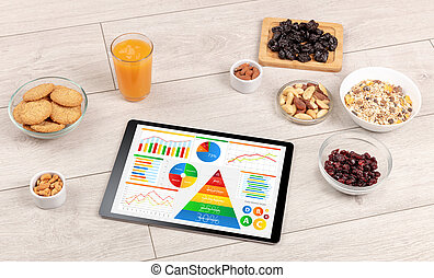 healthy eating, vitamins, dieting concept - healthy eating ...