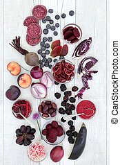 Healthy Eating with Anthocyanin Food - Health food of fruit...