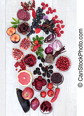 Healthy Eating with Anthocyanin Food - Healthy food with...