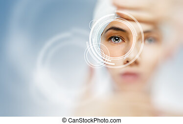 healthy eyes of a young girl