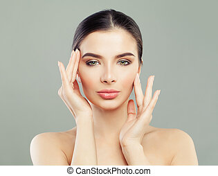 Healthy face young woman