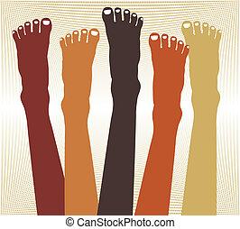Healthy feet design.