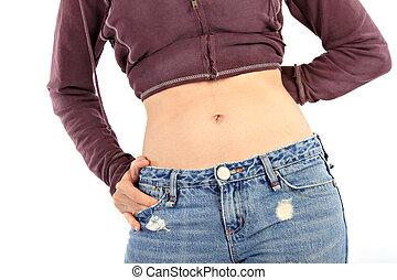 Healthy Female Thin Waist Closeup