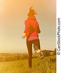 Healthy fit woman runner...