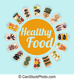 Healthy food and fresh vegetables