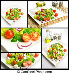 Healthy food composition - Photo composition with healthy...