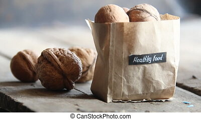 healthy food concept - healthy food idea - text healthy food...