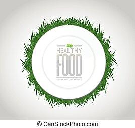 healthy food concept illustration design graph
