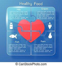 Healthy Food Concept Puzzle Design