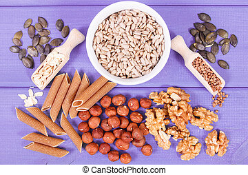Healthy food containing copper, minerals and dietary fiber,...