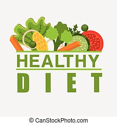 healthy food design, vector illustration eps10 graphic