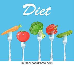 Healthy food. Diet concept,