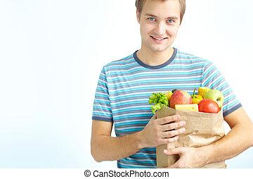 Healthy food eater