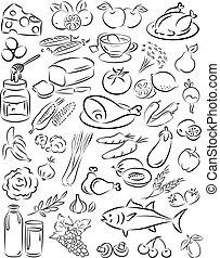 healthy food - vector illustration of healthy food...