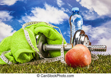Healthy food, fitness theme - Fitness theme
