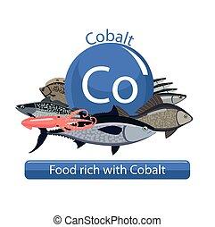healthy food - Food rich with cobalt. Healthy Food series....