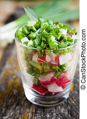 healthy food - fresh salad