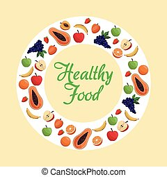 healthy food fruit poster