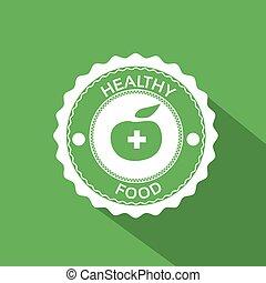 Healthy Food Icon Green Apple