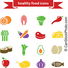 healthy food icons
