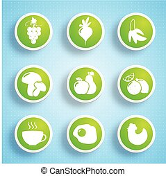 Healthy Food Icons Collection