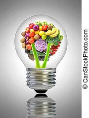 Healthy food ideas concept