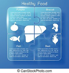 Healthy Food Infographic Background