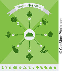 Healthy Food Infographic Template.