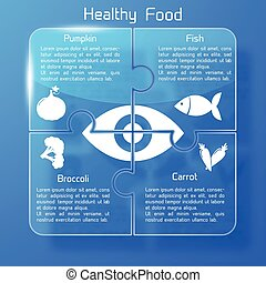Healthy Food Infographics Puzzle Design