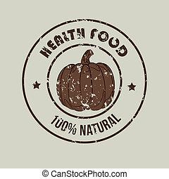 healthy food  label