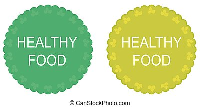 Healthy food labels and elements