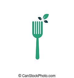 Healthy Food Logo design.