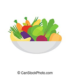 Healthy food on the plate