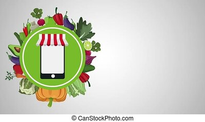 Healthy food online order HD animation - Healthy food online...