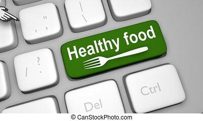 Healthy food online tips shot clip
