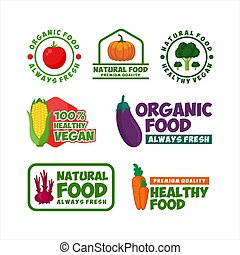 Healthy Food Organic Natural Vector Design