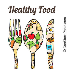 healthy food over white background vector illustration