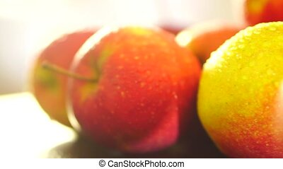 Healthy food red apples