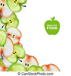 Healthy Food. Slice of Apple. Vector